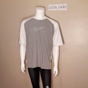 Nike Grey/White Short Sleeve Tee